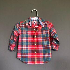 Baby boy's long sleeve shirt, size 6-12 months
